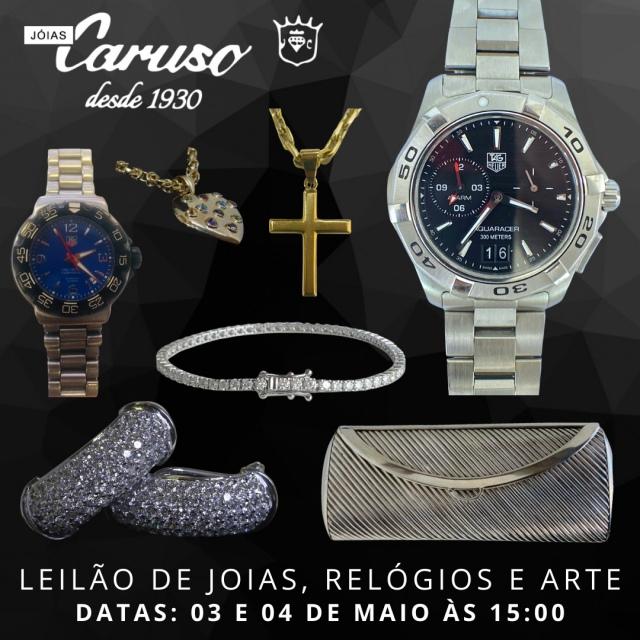 24º LEILÃO DE JOIAS RELÓGIOS E OBJETOS DE ARTE E DECORAÇÃO - JOIAS CARUSO