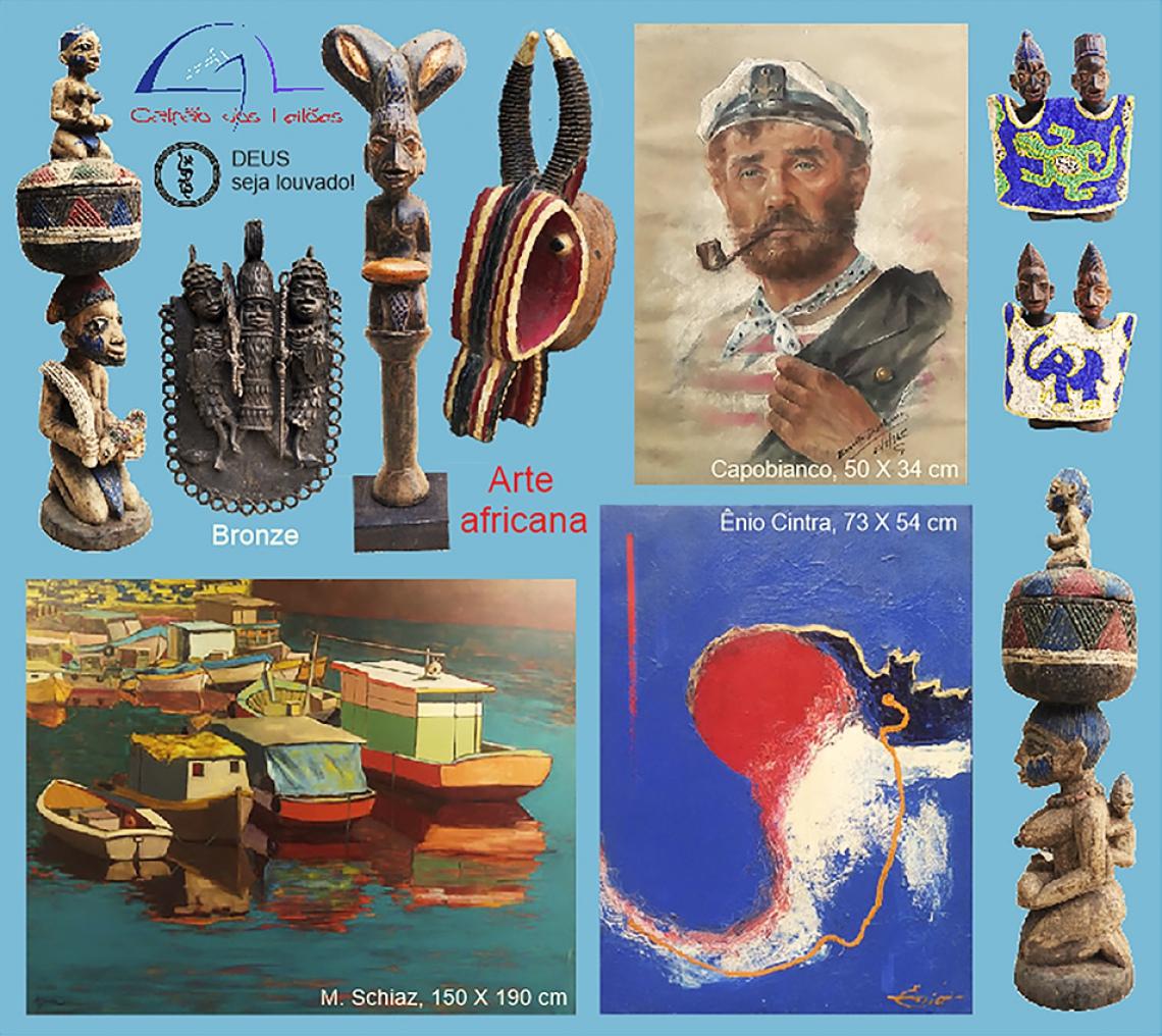 LEILÃO DE ARTE, DECORAÇÃO, CURIOSIDADES e COLECIONISMO (destaque p/ Tribal Africana), 27/3 e 29/3/20