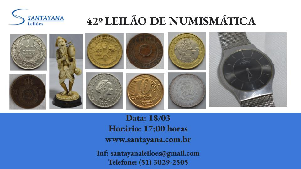 42º LEILÃO DE NUMISMÁTICA
