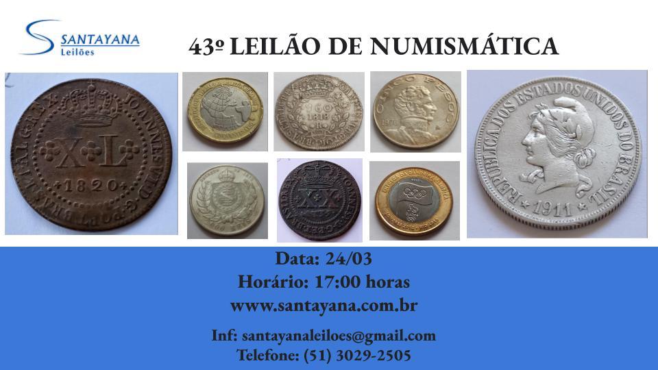 43º LEILÃO DE NUMISMÁTICA