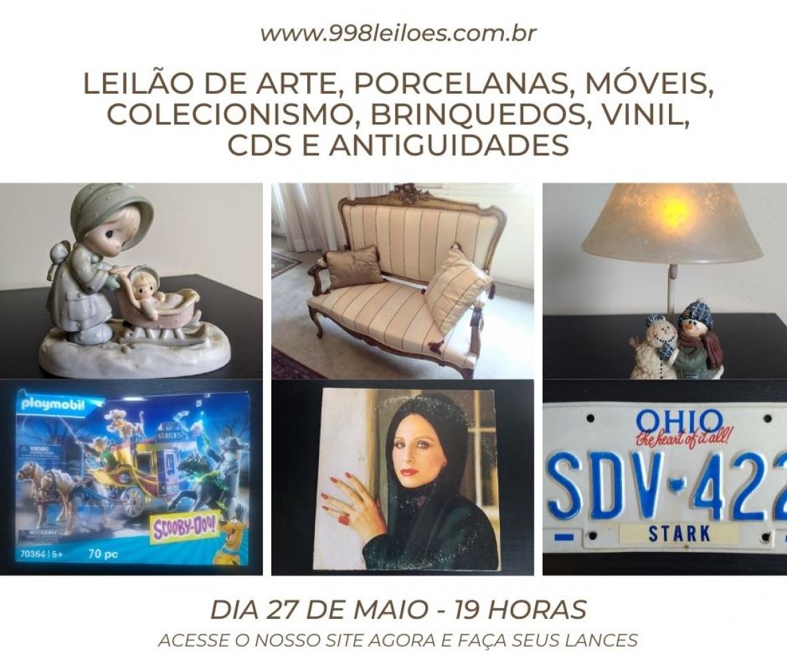 LEILÃO DE ARTE, PORCELANAS, COLECIONISMO, BRINQUEDOS, VINIL, CDS E ANTIGUIDADES