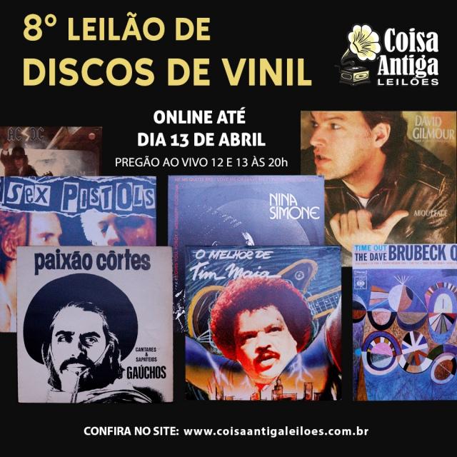 8º LEILÃO DE DISCOS DE VINIL - COISA ANTIGA