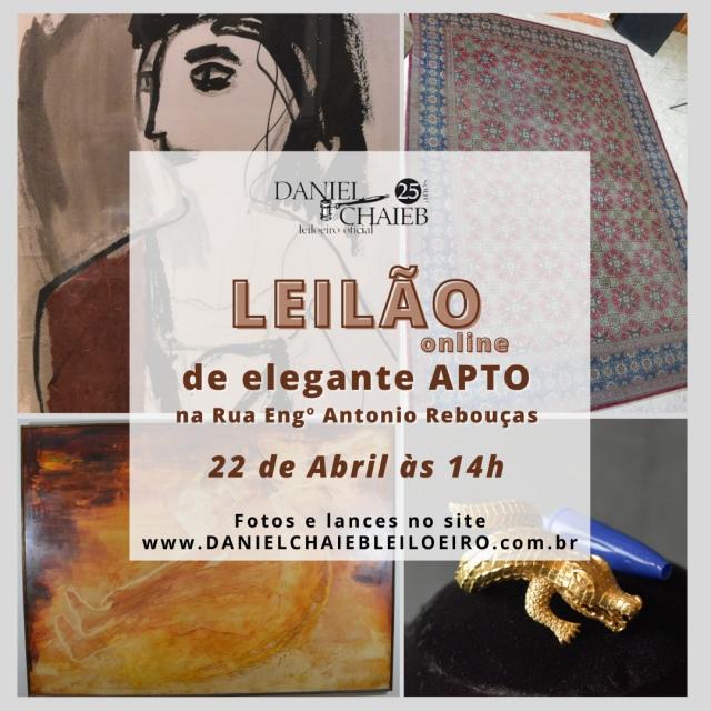 LEILÃO DE ELEGANTE APARTAMENTO NA RUA ENGENHEIRO ANTONIO REBOUÇAS