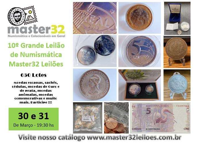 10º Grande Leilão de Numismática - Master32 Leilões