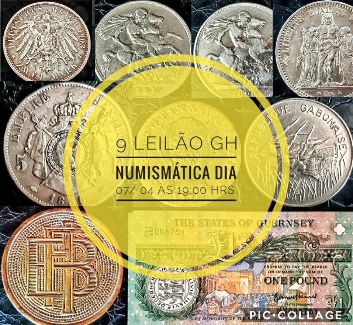 9º LEILÃO DE COLECIONISMO GH NUMISMÁTICA