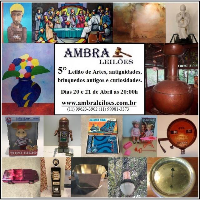 LEILÃO DE ARTE, ANTIGUIDADE, BRINQUEDOS ANTIGOS E CURIOSIDADES