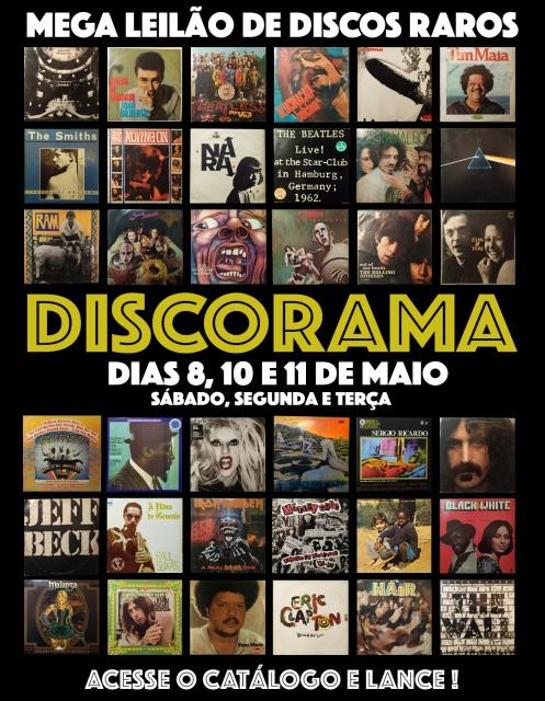 30º MEGA LEILÃO DISCORAMA DE DISCOS RAROS DE VINIL