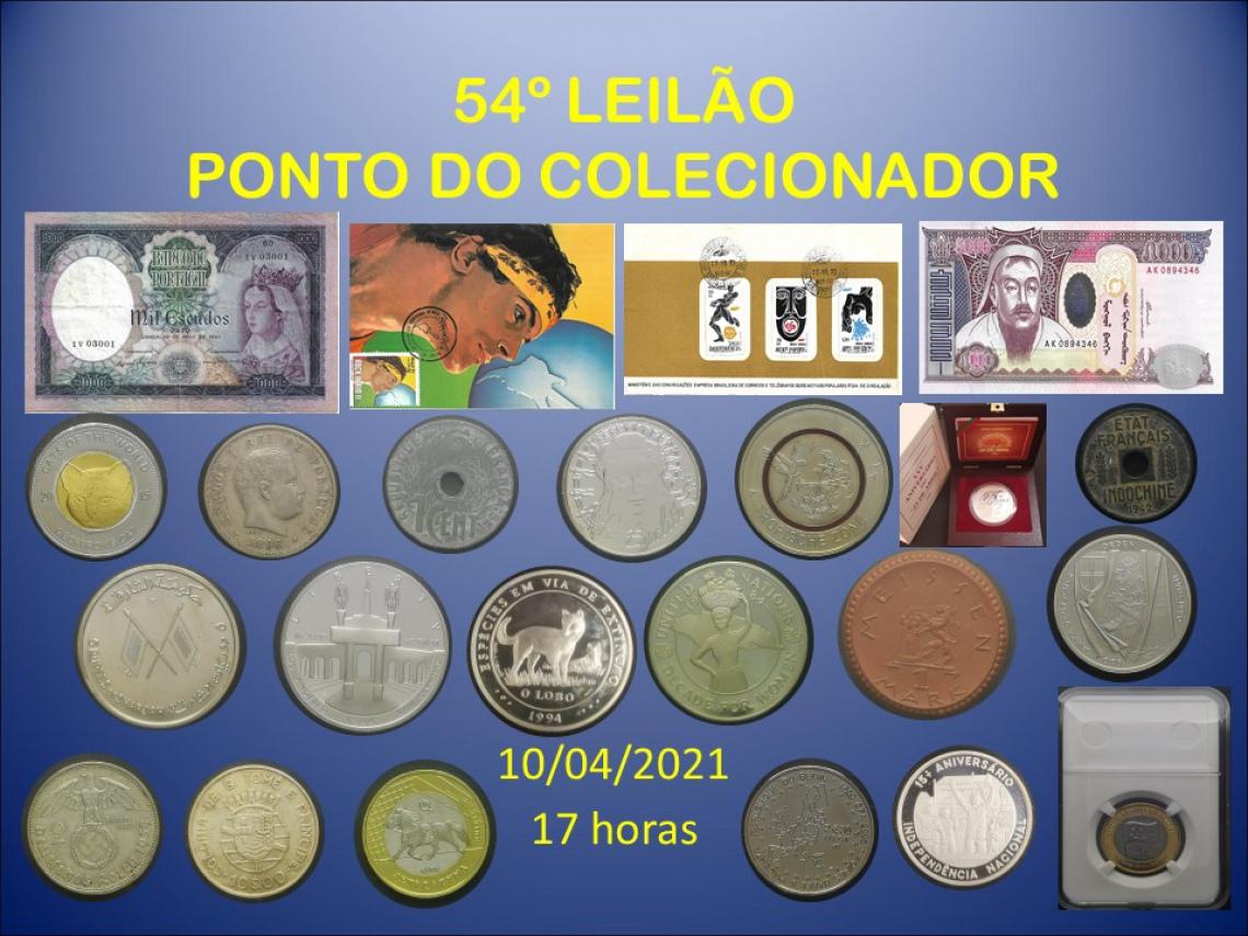 54º LEILÃO PONTO DO COLECIONADOR