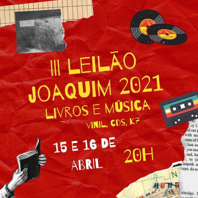 TERCEIRO LEILÃO JOAQUIM DE 2021 - LIVROS E MÚSICA (VINIL, CDS, K7)