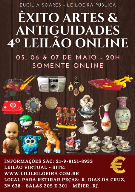 Êxito Artes & Antiguidades - 4º Leilão - Colecionismo, Objetos Decorativos, Numismática.
