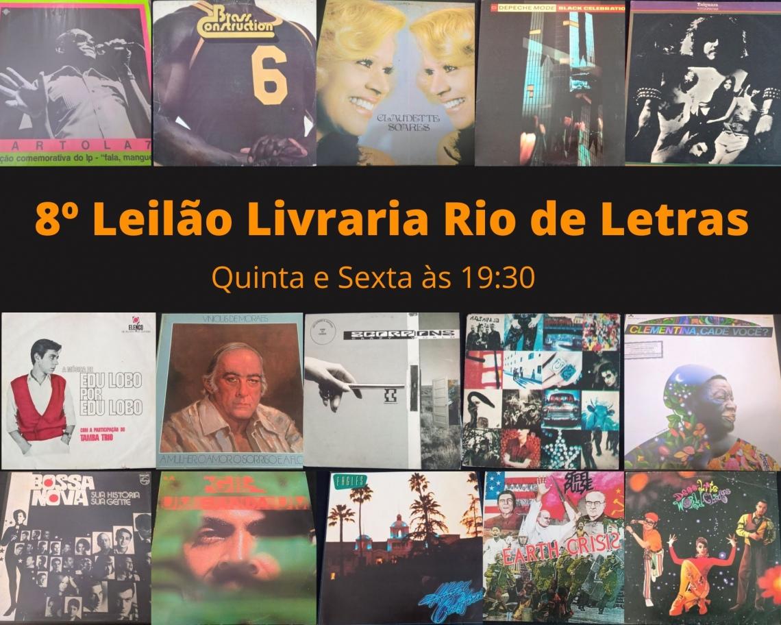 Oitavo leilão Rio de Letras, Com Discos de Vinil