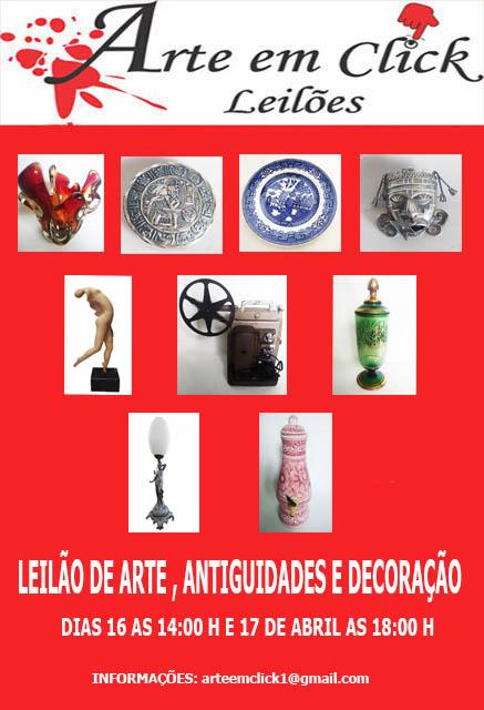 LEILÃO DE ARTE , ANTIGUIDADES E DECORAÇÃO