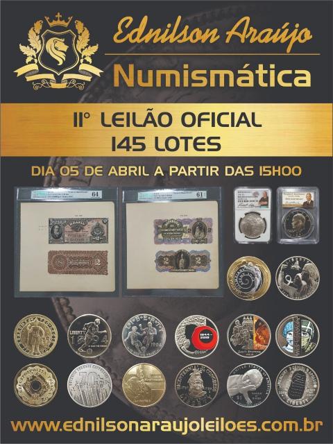 11º LEILÃO EDNILSON ARAUJO NUMISMÁTICA