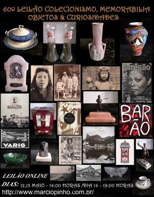 60º Leilão Memorabilia, Numismática, Objetos, Coleções e Curiosidades