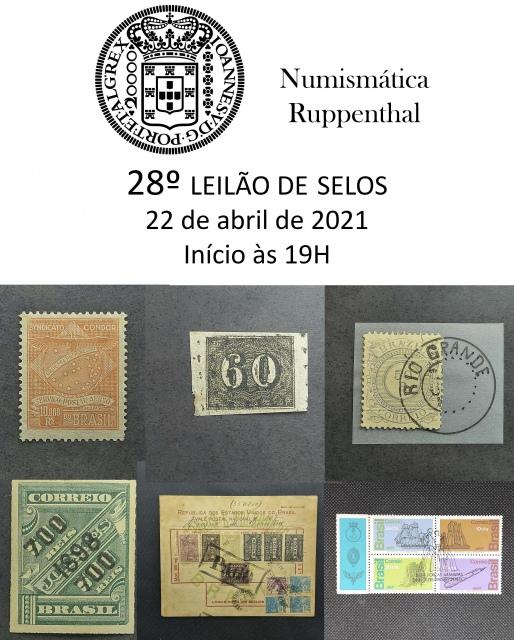 28º LEILÃO DE SELOS - Numismática Ruppenthal