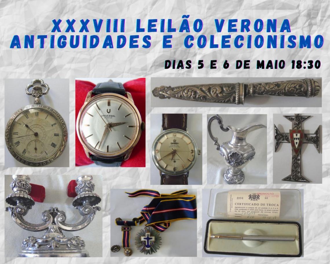 XXVIII LEILÃO VERONA ANTIGUIDADES E COLECIONISMO