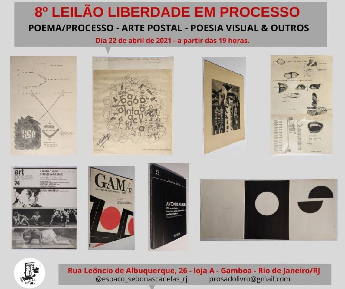 8º LEILÃO LIBERDADE EM PROCESSO - POEMA/PROCESSO - ARTE POSTAL - POESIA VISUAL  & OUTROS