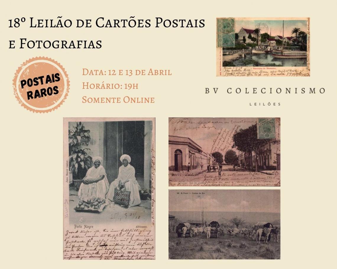 18º LEILÃO DE CARTÕES POSTAIS E FOTOGRAFIAS