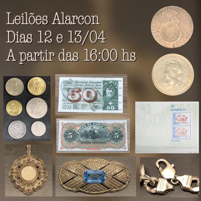 LEILÃO DE CÉDULAS E MOEDAS - FAMÍLIA ARANTES