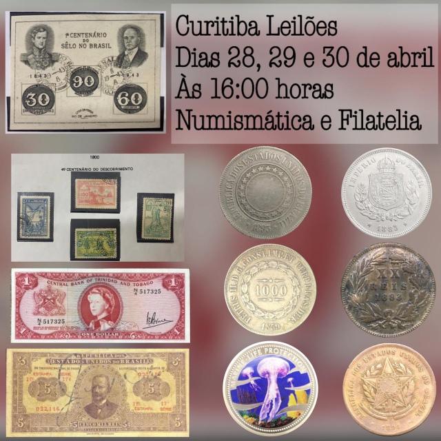 LEILÃO DE NUMISMÁTICA E FILATELIA - CIA DO COLECIONADOR