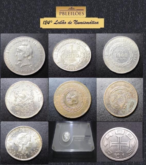 124º Leilão de Numismática Pbleilões e Outros