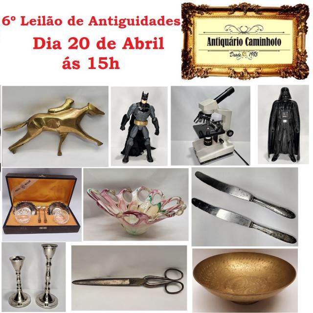 6º LEILÃO ANTIQUÁRIO CAMINHOTO