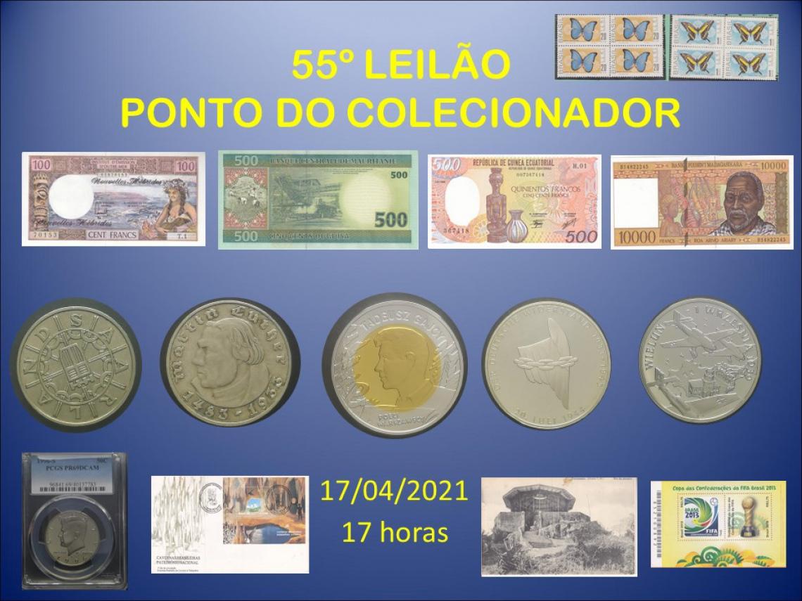 55º LEILÃO PONTO DO COLECIONADOR