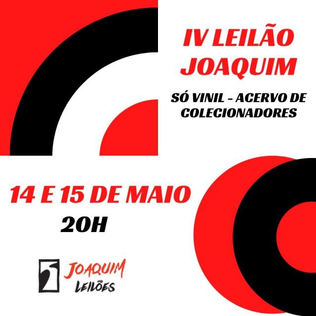 QUARTO LEILÃO JOAQUIM - SÓ VINIL DE ACERVO DE COLECIONADORES