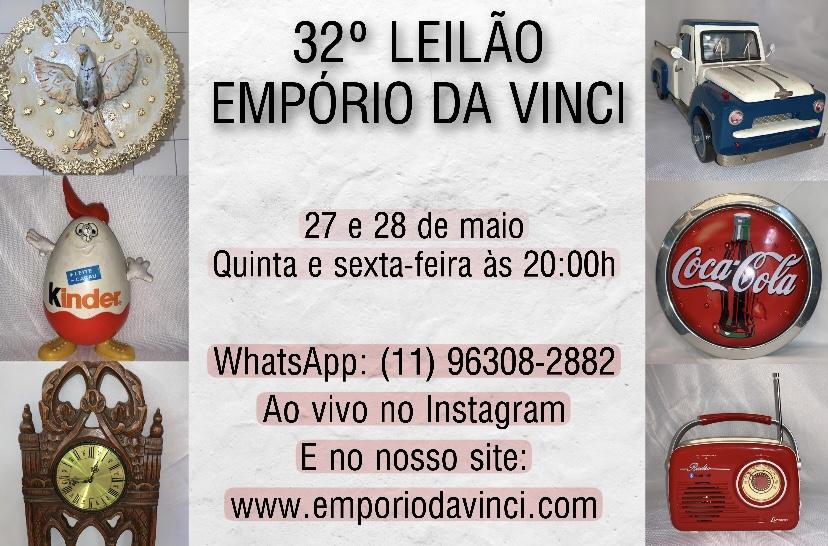 32º Leilão do Empório da Vinci - Cacarecos, Relógios, Peças de Automóveis & Oportunidades.