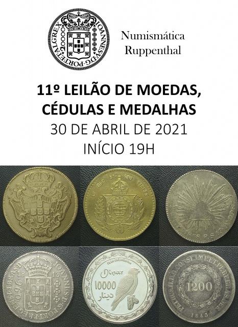 11º Leilão de Moedas e Cédulas e Medalhas - Numismática Ruppenthal