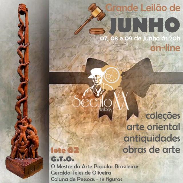 GRANDE LEILÃO DE JUNHO - ARTE ORIENTAL - PRATA DE LEI - QUADROS - ESCULTURAS E ANTIGUIDADE!!!