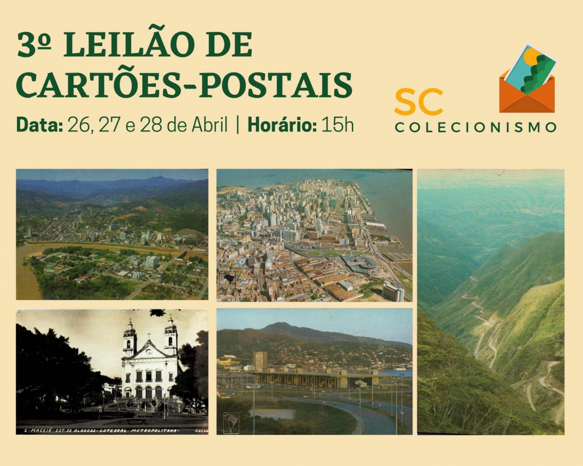 3º LEILÃO DE CARTÕES - POSTAIS