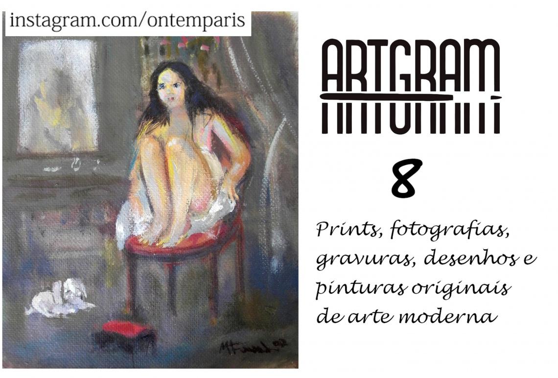ARTGRAM 08 - leilão residencial - prints, fotografias, desenhos e pinturas originais de arte moderna