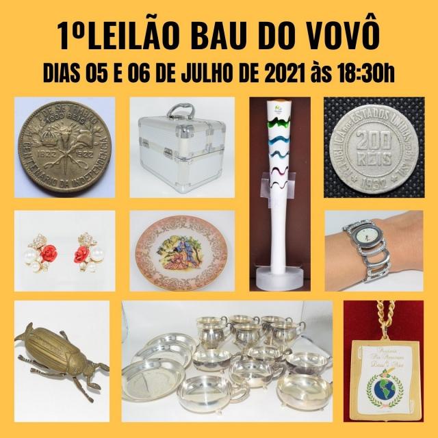 1º Leilão Baú do Vovô de Antiguidades, Numismática e Colecionismo
