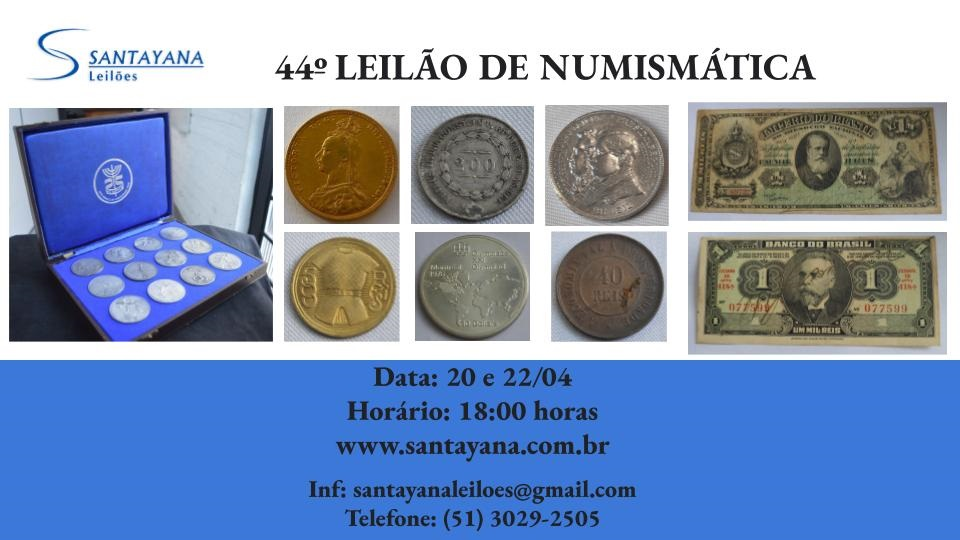 44º LEILÃO DE NUMISMÁTICA