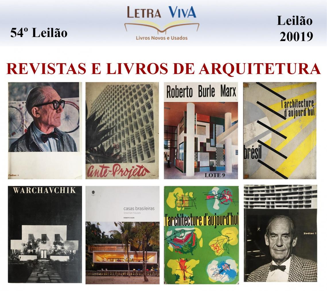 54 º LEILÃO LETRA VIVA - LEILÃO DE REVISTAS E LIVROS DE ARQUITETURA