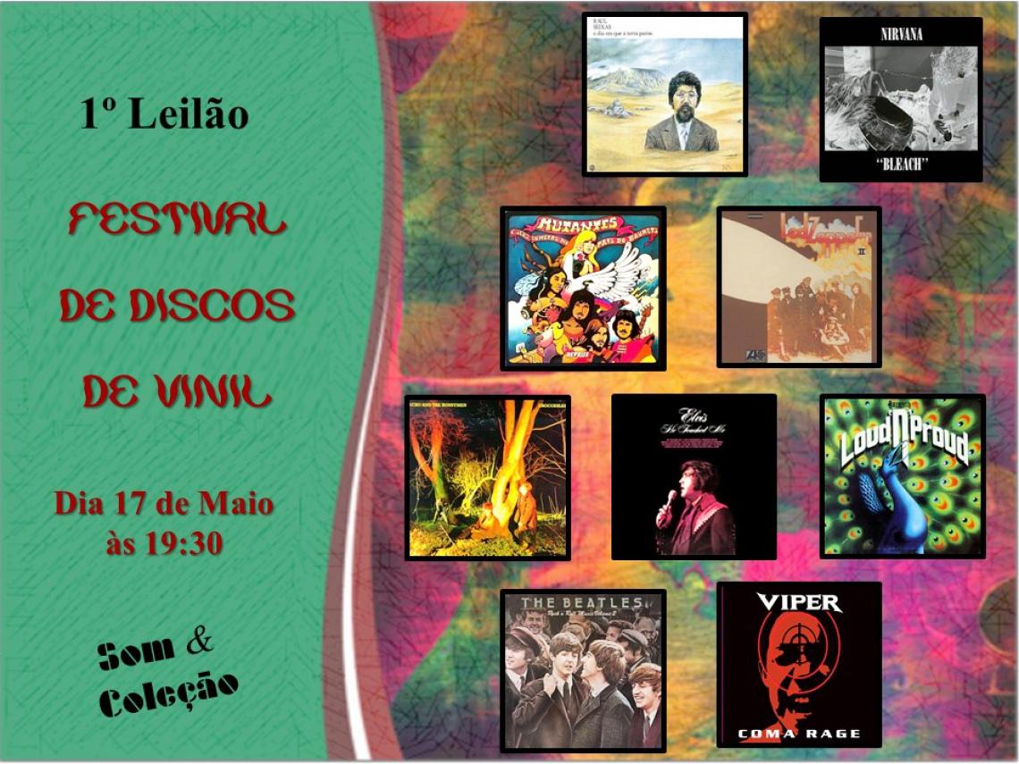 1º Leilão - FESTIVAL DE DISCOS DE VINIL