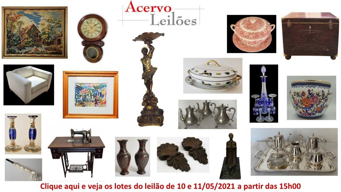 LEILÃO DE OPORTUNIDADES: ARTE, DECORAÇÃO E COLECIONISMO - 10 e 11/05/2021