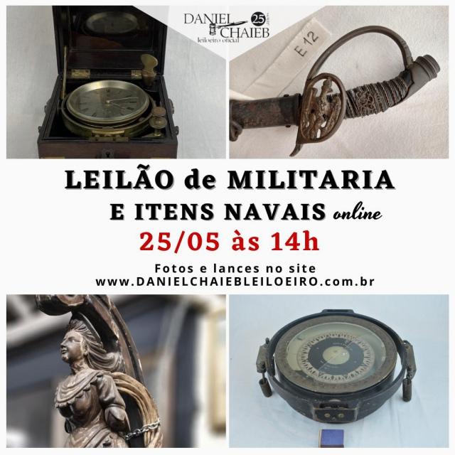 LEILÃO DE MILITARIA E ITENS NAVAIS