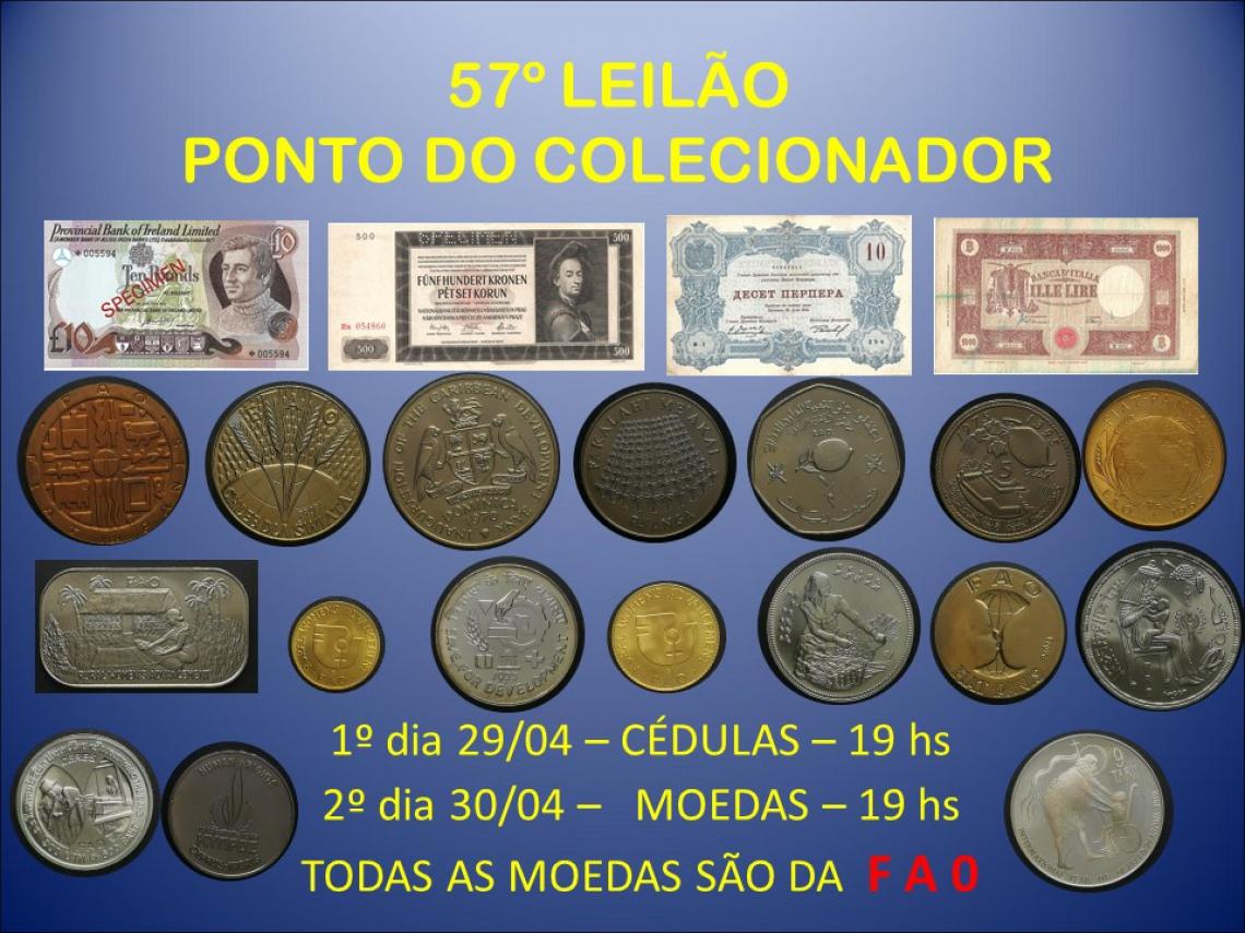 57º LEILÃO PONTO DO COLECIONADOR