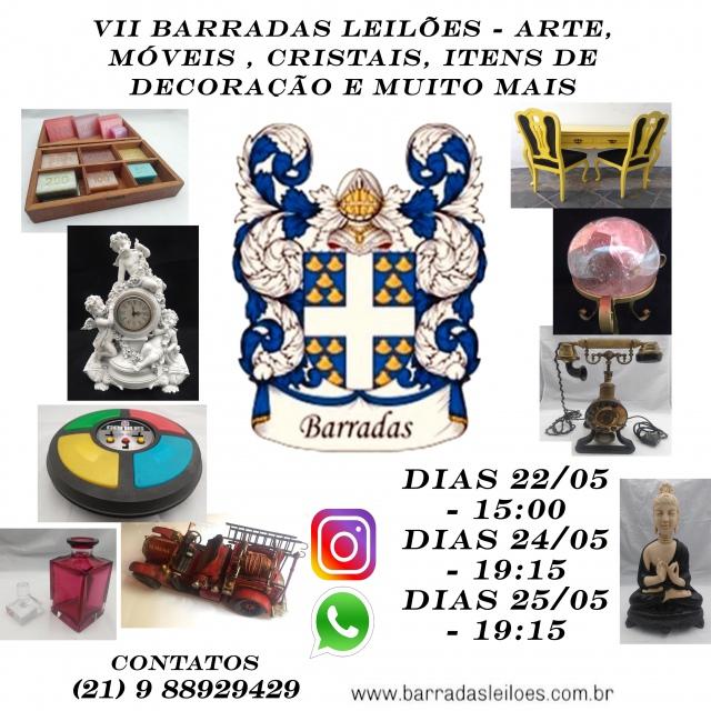 VII Barradas Leilões - Arte, Móveis, Cristais, Itens de Decoração e muito mais