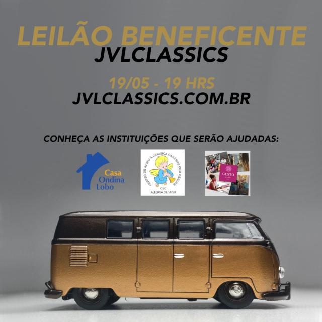 Leilão Beneficente JVL Classics de Miniaturas e memorabilia automotiva