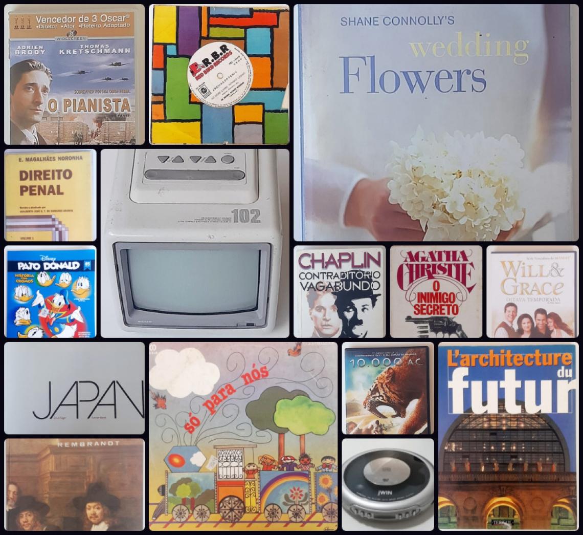 Leilão de Remanescente e Oportunidades: Eletrônicos, Vinil, CD, DVD,  Livros e Revistas