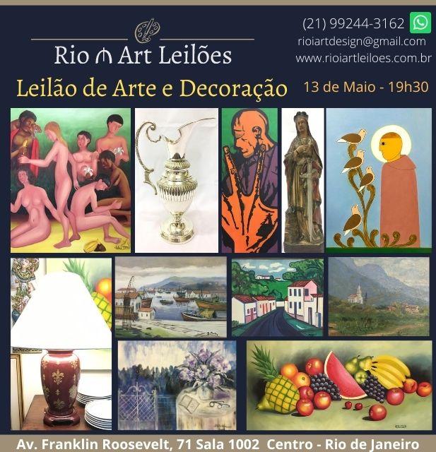 LEILÃO DE ARTE, ANTIGUIDADES E DECORAÇÃO