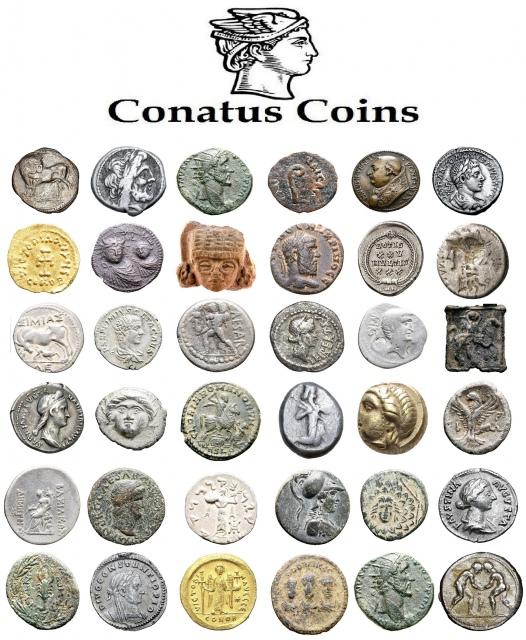 5º Leilão Conatus Coins de Moedas e Artefatos da Antiguidade Clássica (Gregos, Romanos e Bizantinos)