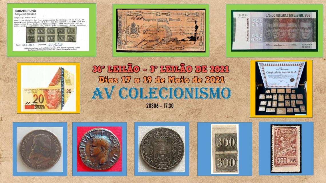 36º Leilão - AVCO - Filatelia - Numismática - Colecionáveis