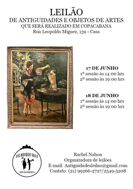 LEILÃO DE ANTIGUIDADES E OBJETOS DE ARTES