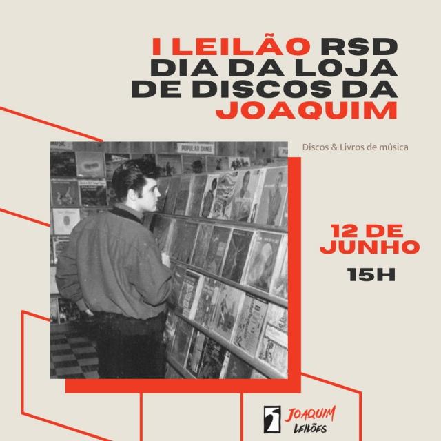 PRIMEIRO LEILÃO RSD - DIA DA LOJA DE DISCOS NA JOAQUIM