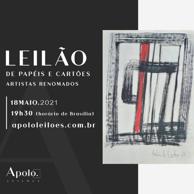 LEILÃO DE PAPÉIS E CARTÕES - ARTISTAS RENOMADOS