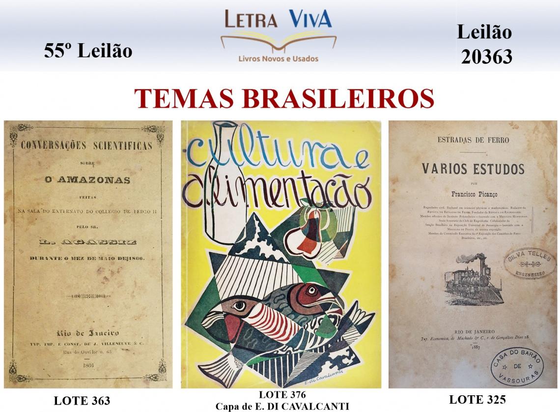 55º LEILÃO LETRA VIVA - TEMAS BRASILEIROS